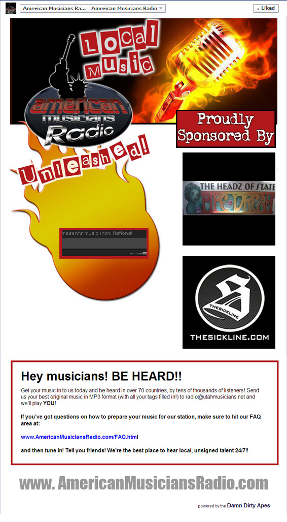 American Musicians Radio Facebook Player