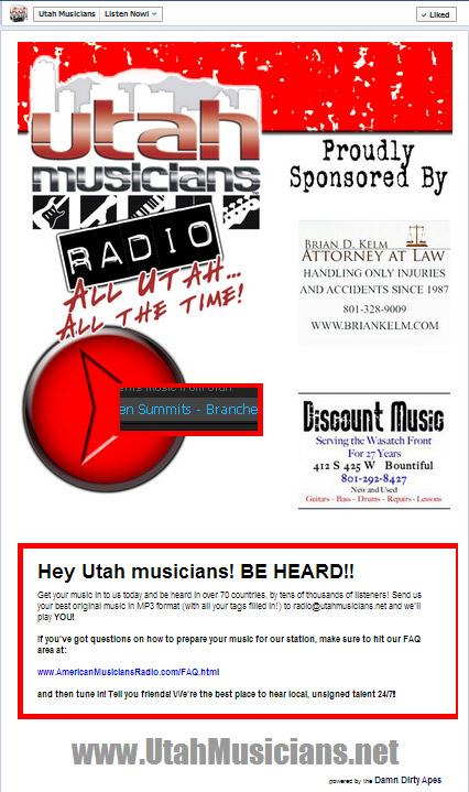Utah Musicians Radio Facebook App